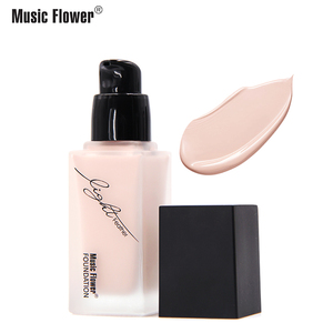 Music Flower Soft Matte Long Wear Oil Control Waterproof Concealer Cream Women Base Makeup Perfect Beauty Face Liquid Foundation