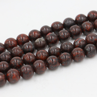 2020 wholesale rosary beads loose natural stone red poppy Jasper stone bead for jewelry making