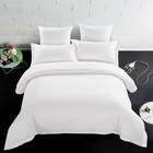 Hotel and home use luxury soft cotton fabric white brand bed bedding sheet sets