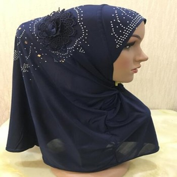 Fashion and flower ice silk women Muslim scarf to cover the hijab head scarf
