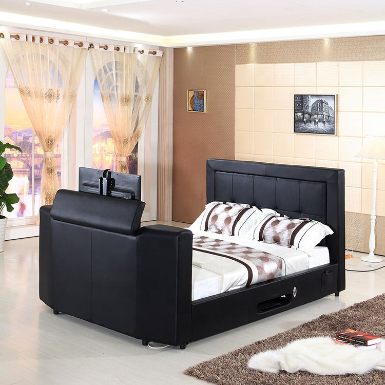Brilliant Fabric Upholstered Black Ottoman Tv Beds Frame Fabric Tv Beds High Bed With Tv In Footboard Buy Bed With Tv In Footboard Tv Beds Frame Bed With Tv Andrewgaddart Wooden Chair Designs For Living Room Andrewgaddartcom