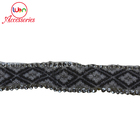 Graphic Customization Trim Lace Wholesale New York Silver Chain Rhinestone Trim Lace with Crystal Ab Stone