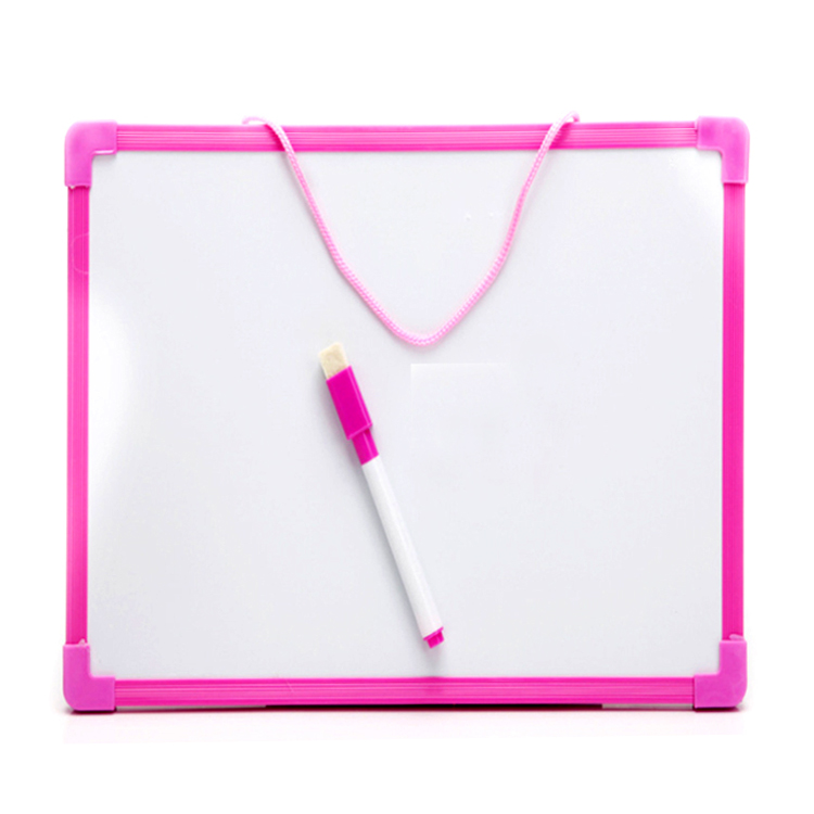 29*29cm Two-Sided Whiteboard With Plastic Frame Dry Erase Lapboards For Kids - Yola WhiteBoard   szyola.net