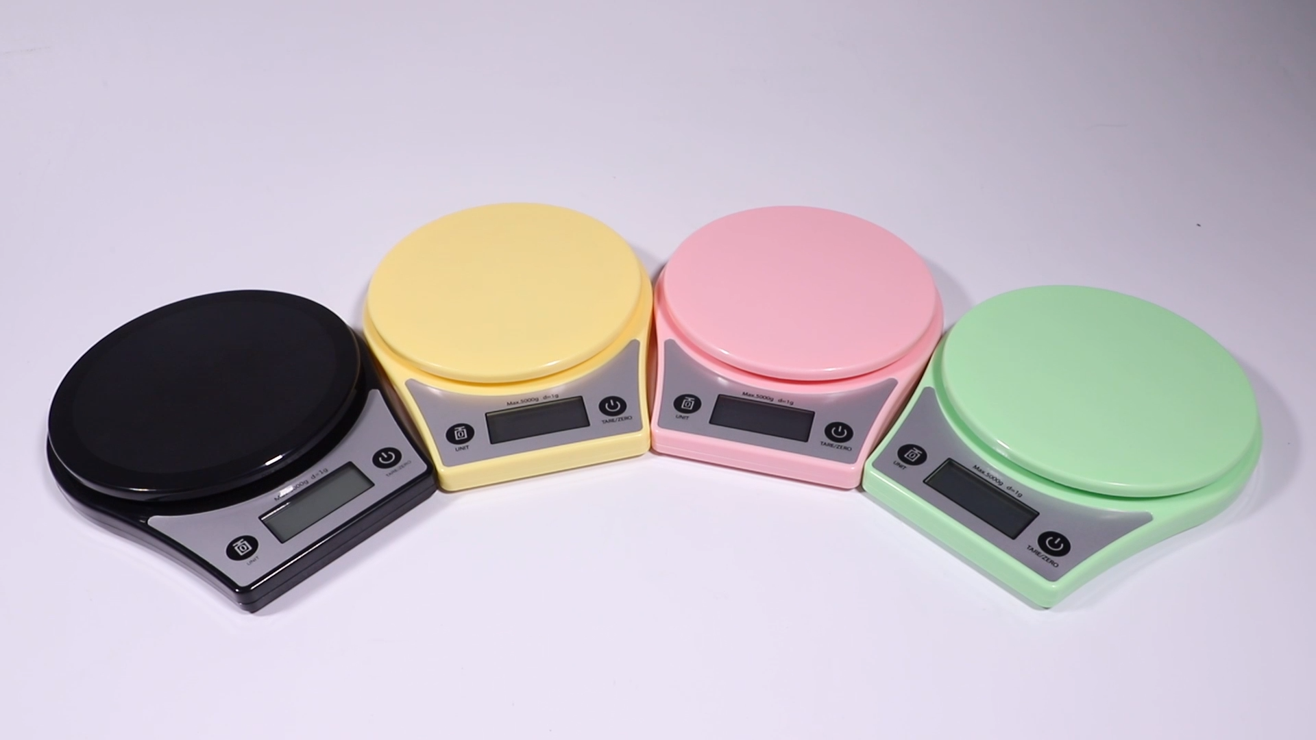 High precision digital Kitchen scale 5kg portable round scale food weighing scale