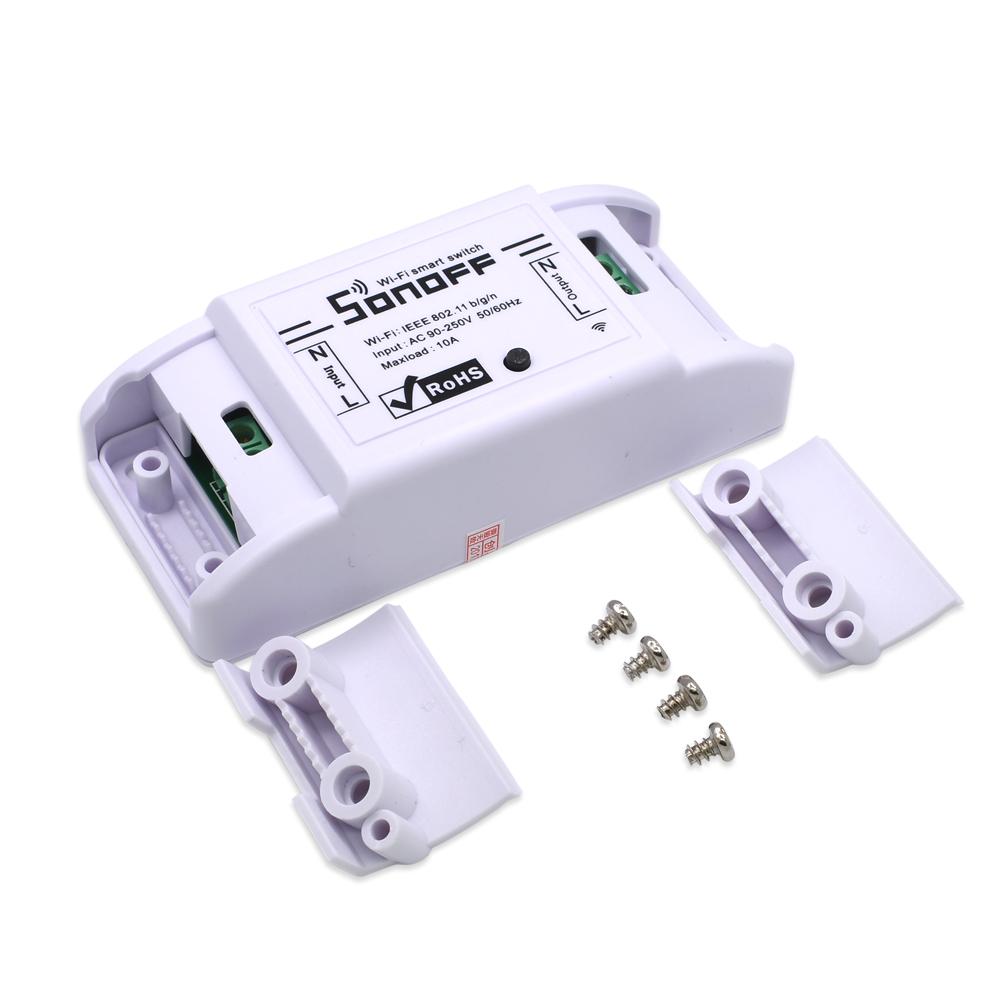 Interruptor eléctrico 90-250V 10A luz Wifi inteligente interruptor Sonoff básicos