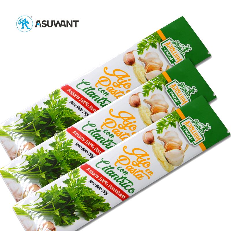 Custom Printed Food Grade Back Sided Sealed Plastic Food Packaging Bag