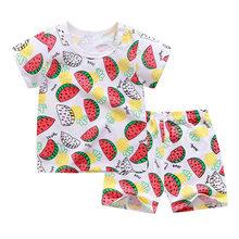 Детская одежда с мультяшными персонажами для мальчиков и девочек, летняя футболка и шорты для детей, 2020(Китай)