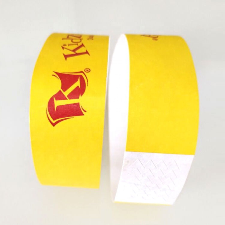 The Most Popular Choice For 3/4 Inch Custom Logo Unmbered Paper Wristbands Waterproof Celebrate Festival Event Tyvek Wristbands