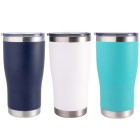 New Powder Coated Mix Colors Stainless Steel 20 oz Tumbler With Spill Proof Lid