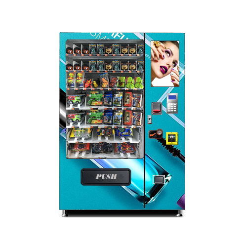 Touch screen vending machine for cosmetic products