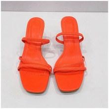 SUOJIALUN/женские летние шлепанцы; Модные элегантные женские босоножки с узкими лентами; Женские модельные туфли на высоком тонком каблуке(Китай)