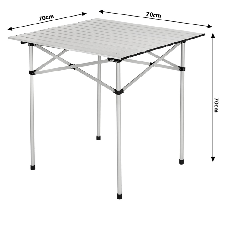 Hot selling Outdoor light portable picnic fish camp folding aluminum foldable camping table