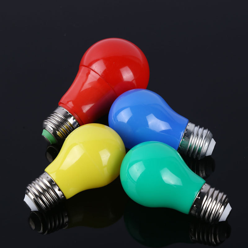 Chinses factory cheap price No UV or IR radiation color bulb led A60 christmas colorful light