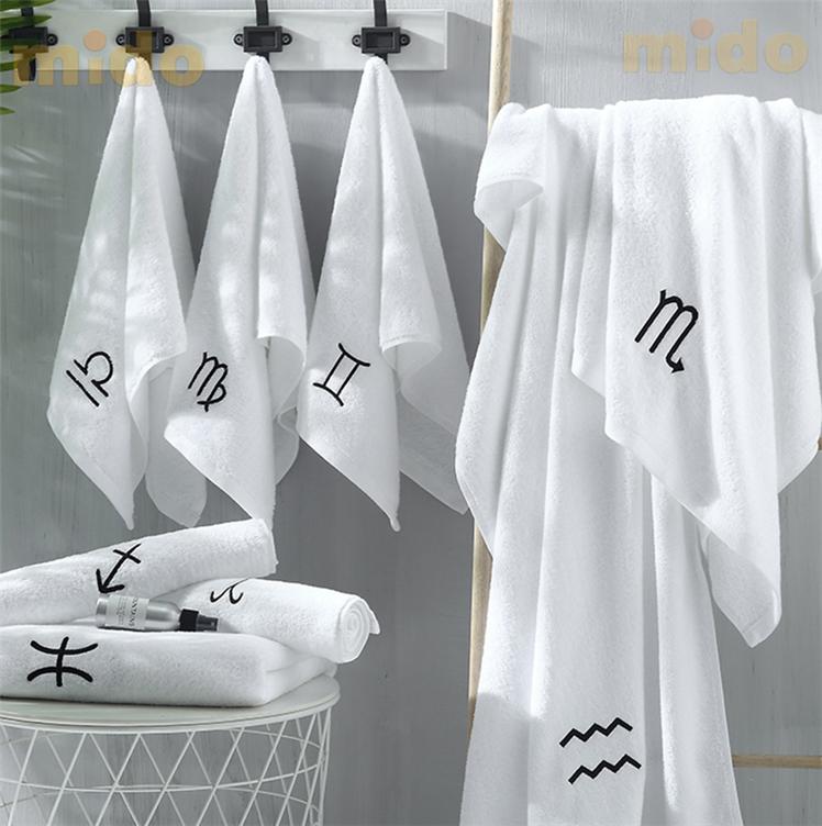 अच्छी गुणवत्ता शून्य मोड़ यार्न बपतिस्मा कपास सफेद तौलिया पांच सितारा होटल स्नान तौलिया