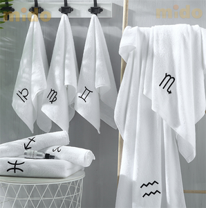 Good quality 100 cotton white towel five star hotel bath towel