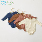 Newborn comfortable soft funny boy and girl organic baby clothes sleepsuit clothing romper 2411