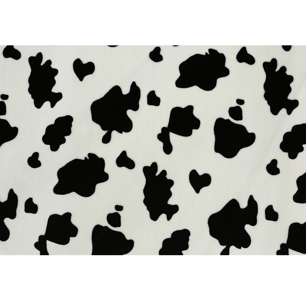 fabric animal print velvet fabric cow design