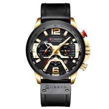 Curren 8329 мужские часы Топ бренд класса люкс Хронограф Мужские часы Кожа Роскошные водонепроницаемые спортивные часы мужские часы наручные ча...(Китай)