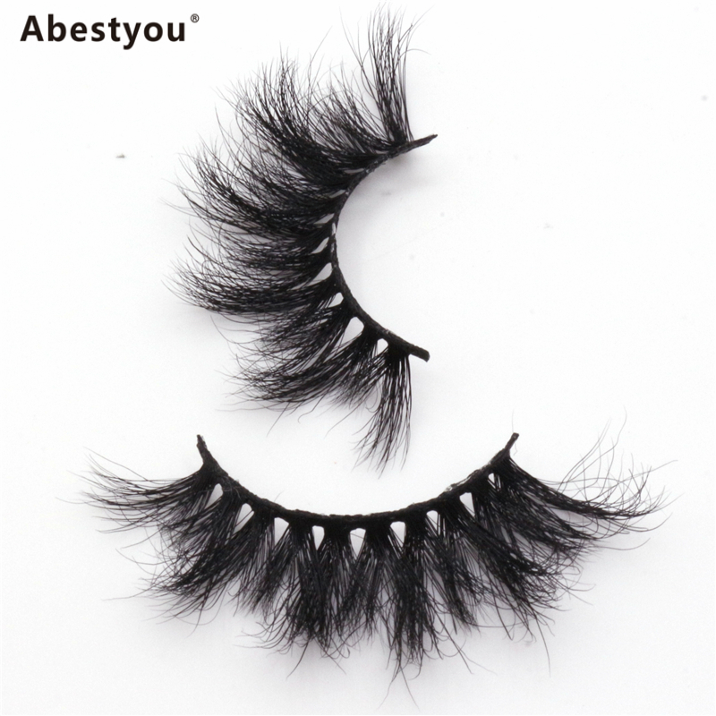 Abestyou OEM Factory Handmade Natural 3D Mink Fur Lashes Custom Private Label Eyelashes Real 3D Mink Eyelashes