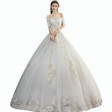 Кружевные свадебные платья It's Yiiya BR728 размера плюс, свадебное платье с открытыми плечами и рукавом до локтя, Vestido De Novia, свадебное платье с выр...(China)