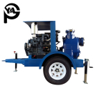Engine Pump Engine Pump High Quality Movable Diesel Engine Field Irrigation Pump With Trailer