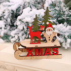 Decorations Table Deer 2020 Christmas Decorations Dining Table Window Hotel Shopping Mall Wooden Color Assembled Sleigh Ornaments Santa Deer Cart