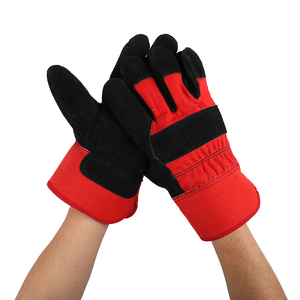 grade AB high quality mens winter motorcycle thermal fashion comfortable cotton leather work gloves