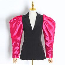 TWOTWINSTYLE, пэчворк, хит, цвет, Женский блейзер, с длинным рукавом, зубчатый, женские блейзеры, весна 2020, плюс размер, модная новая одежда(Китай)