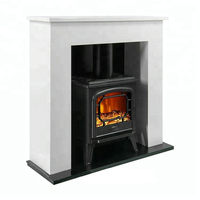 Best insert wooden low noise electric fireplace stoves with mantle