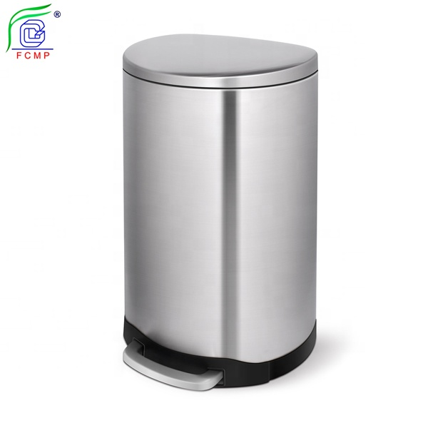 Metal Dustbin Stainless Steel Garbage