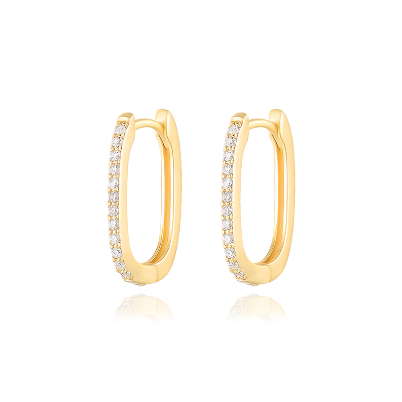 CANNER Korean micro pave cz 925 sterling silver stamped 925 silver jewelry huggie hoop earrings for women