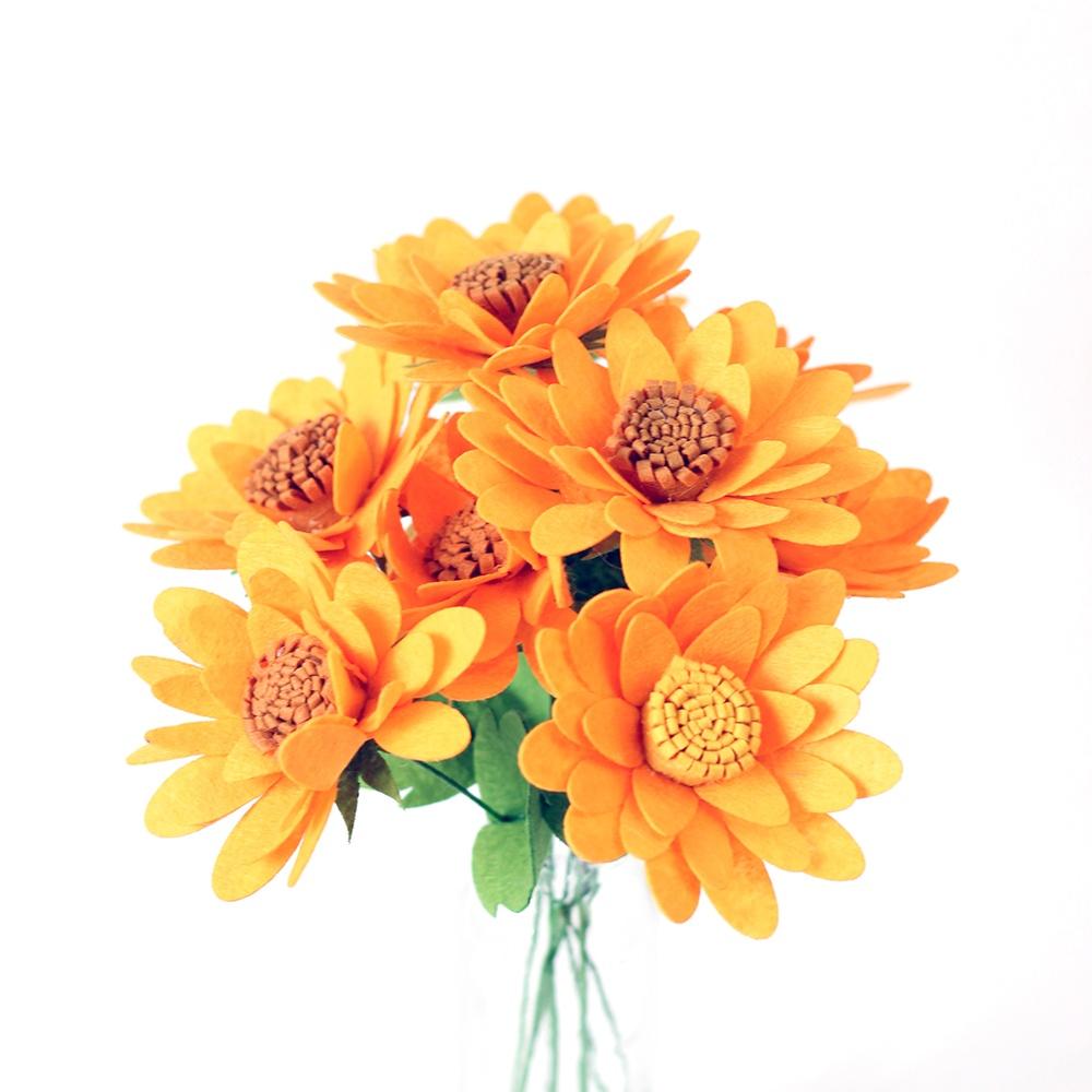 부직포 펠트 해바라기 DIY 공예 키트 인공 꽃 만들기