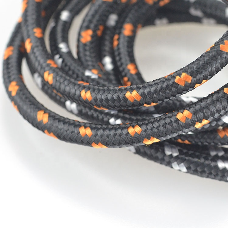 Wholesale high quality round bungee coil cord lanyard with snap hook