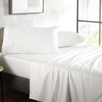 China product cheap price white bedsheet hospital 100 cotton hotel linen bedsheets