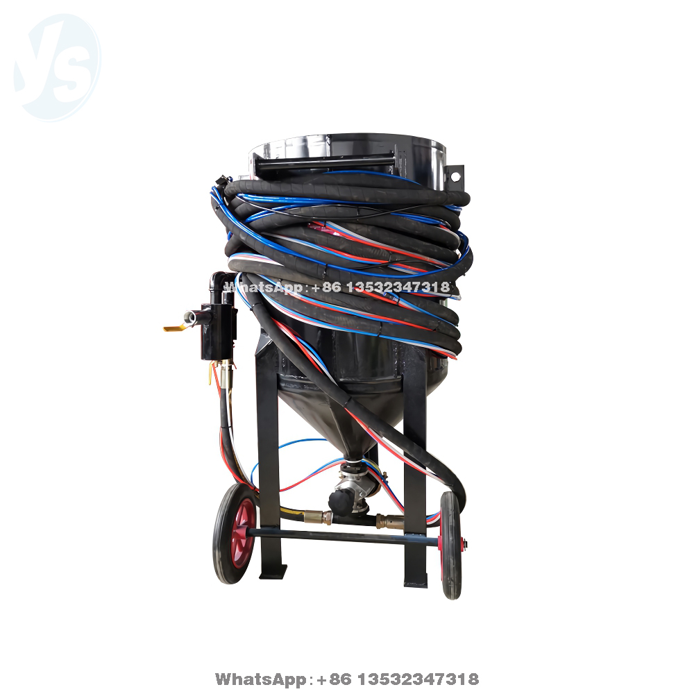 YS Mobile Sand Blasting Machine, Rust Removal Sandblasting Machine, Paint Removal Sand Blasting Machine Hot Sale