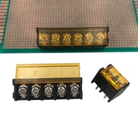 barrier terminal block 9.5mm pitch PCB type black with yellow cover for power 30A HB9500SS-9.5MM