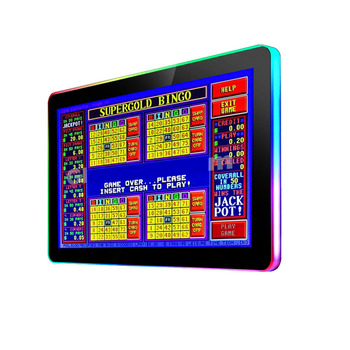"Game machine capacitance touch screen monitor with LED light 21.5""/22'' HD monitor LED light game monitor"