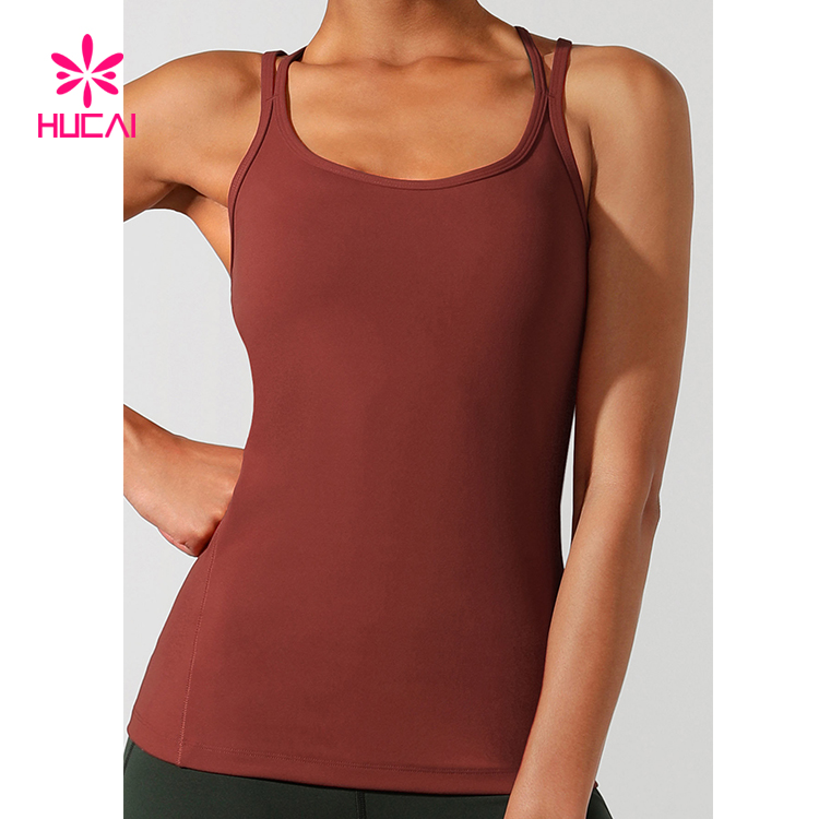 Custom Dry Fit Gym Workout Clothing Slim Fit Ladies Sports Tank Top