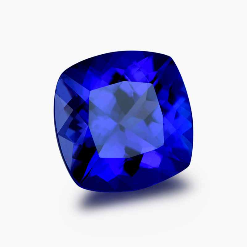 loose blue tanzanite gems cushion cut tanzanite