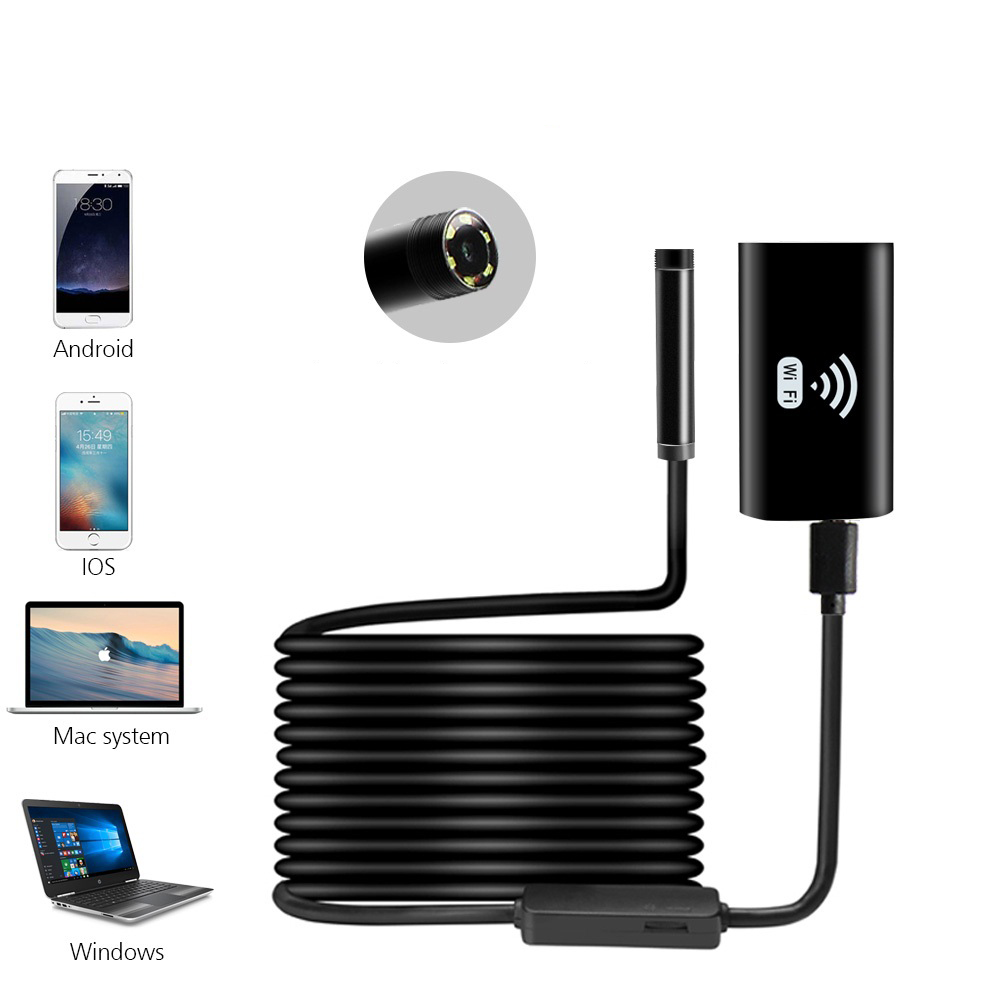 Draadloze WIFI Endoscoop Camera Waterdicht Inspectie Mini Camera 8mm USB Endoscoop Borescope Voor Iphone Android PC IOS APP