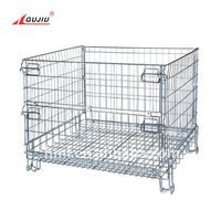 IBC Auto Parts Box Bulk Retention Stacker Storage Wire European Metal Euro Collapsible Forklift Stackable Pallet Cage