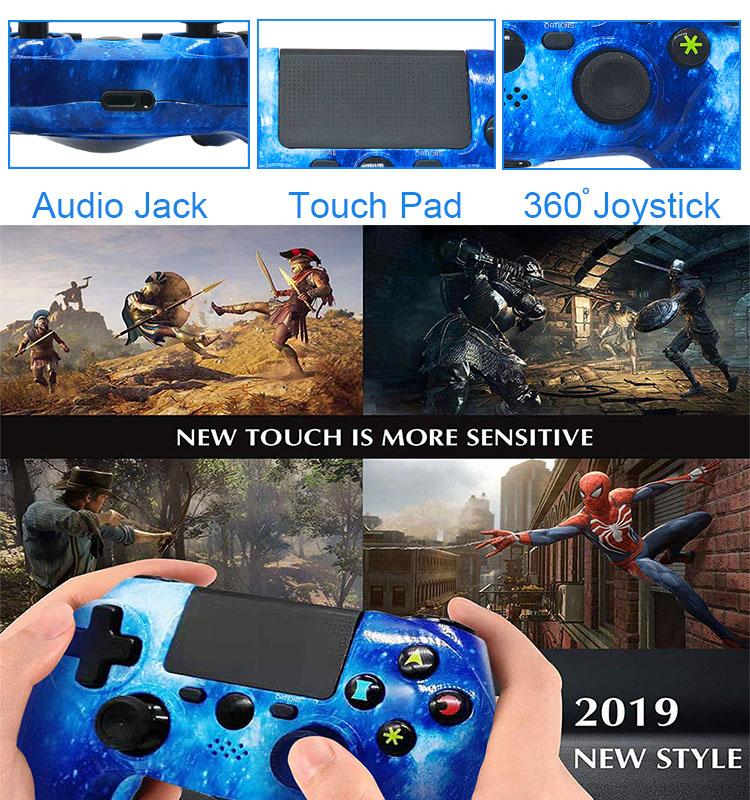 PS4 ゲームコントローラワイヤレスジョイスティックゲーム周辺機器ダブルショック 6 軸ゲームコントローラため PS4