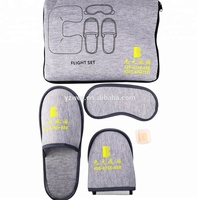 Car or Air Travel Comforts Travel Set, Fleece Blanket Pillow Eye Mask Travel Set