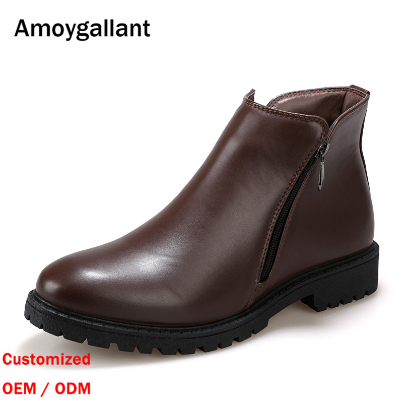 New Fashion High Quality Men Black Brown Boot Custom Wholesale Men Chelsea Boots GZ-Y0145