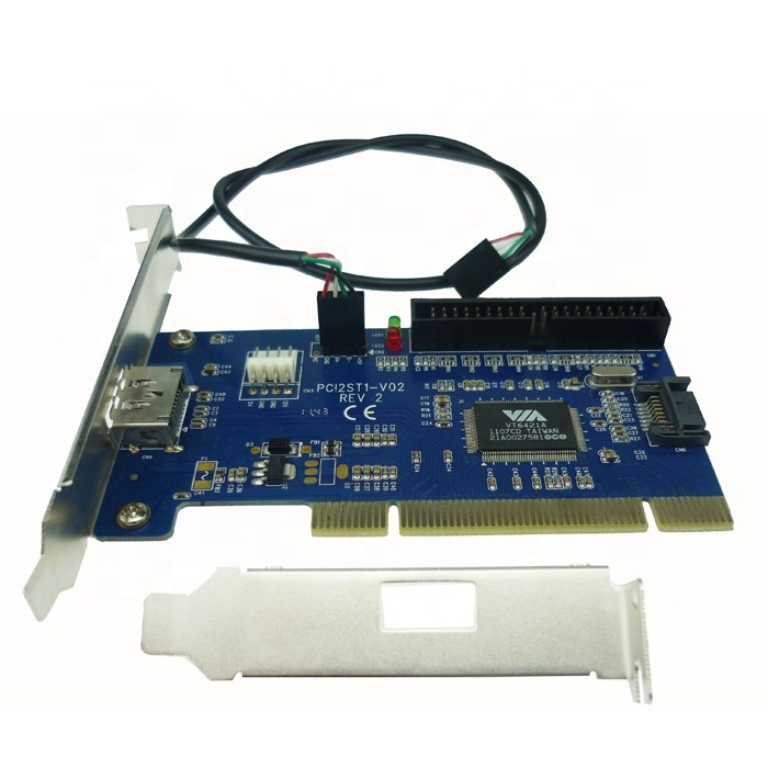 ESATA + USB port Combo PCI card interno SATA + IDE 40pin pci to power esata RAID cartão híbrido