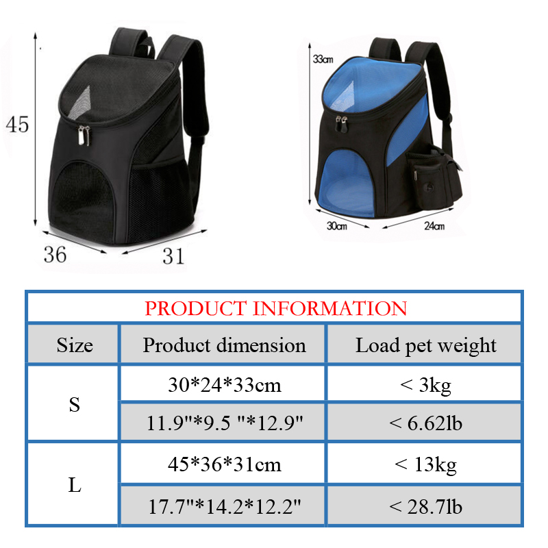 product-GF bags-Portable Mesh Dog Bag Breathable Dog Backpack Large Size Carrying Bag Outdoor Travel