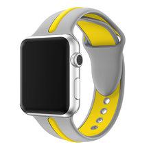 Силиконовый ремешок JANSIN для apple watch series 5, 4, 3, 2, спортивный ремешок для iwatch 38 мм/42 мм/40 мм/44 мм, цветной сменный ремешок(Китай)