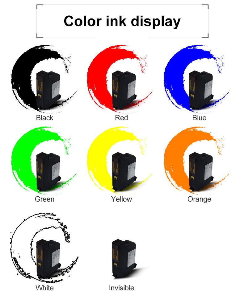 سعر جيد 25.4 مللي متر حرف كبير طابعة نفاثة محمولة يدويًا خرطوشة حبر أسود اللون واحد بوصة خرطوشة حبر 72 مللي