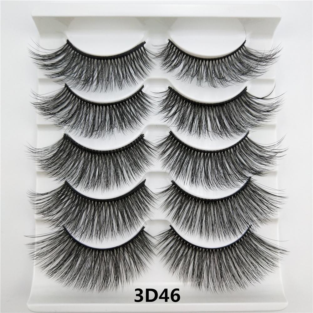Abestyou 5 Pairs 25MM private label false eyelashes mink eyelashes lashes 3d mink wholesale vendor