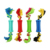 Non toxic Interaction Rubber Ball Cotton Rope Stringing and Cleaning Teeth Interactive Dog Toy